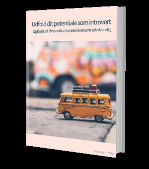 Gratis e-bog om at være introvert som selvstændig med egen forretning og hvordan det kan vendes til at være din største styrke